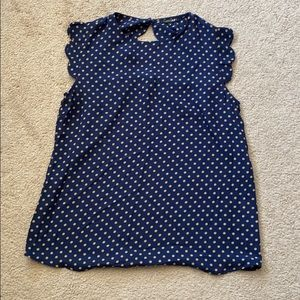 Polk dot top with open back